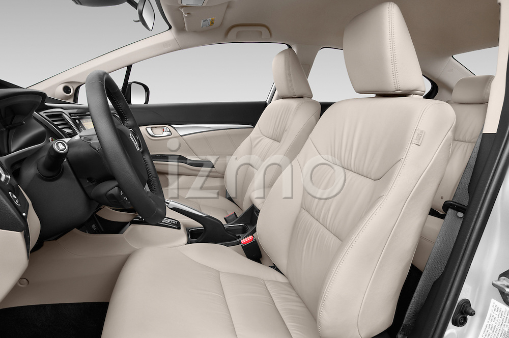 Front seat view of a 2014 Honda Civic Hybrid Hybrid CVT 4 Door Sedan Front Seat car photos