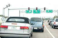 Freeway traffic on route from Gulf Blvd to the airport.  Tampa  Florida USA