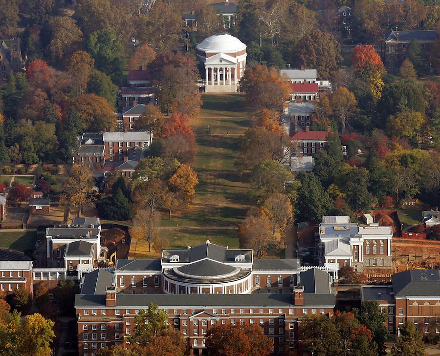 UVa lawn rotunda campus fall