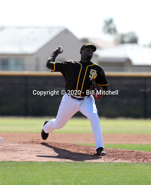 Franklin Van Gurp - San Diego Padres 2020 spring training (Bill Mitchell)
