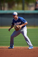 Los Angeles Dodgers Tim Locastro (14) during an instructional league game against the Milwaukee Brewers on October 13, 2015 at Cameblack Ranch in Glendale, Arizona.  (Mike Janes/Four Seam Images)