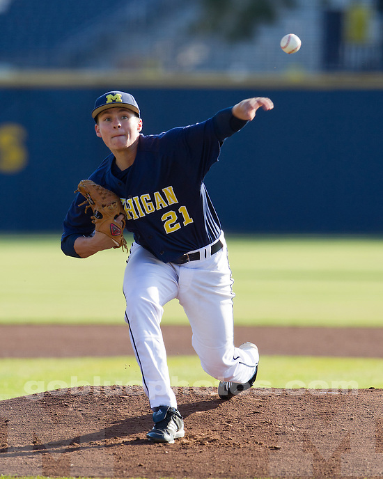 The University of Michigan baseball team lost to Eastern Michigan, 7-2, at the Wilpon Complex in Ann Arbor, Mich., on April 18, 2012.