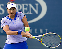 Sania Mirza (IND) against Olga Govortsova (BLR ) in the frst round. Mirza beat Gorvorlsova 6-2 3-6 6-3..International Tennis - US Open - Day 1 Mon 31 Aug 2009 - USTA Billie Jean King National Tennis Center - Flushing - New York - USA ..Frey,  Advantage Media Network, Barry House, 20-22 Worple Road, London, SW19 4DH