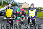Sinead O'Donoghue (Beaufort), Stephen Daly (Miltown) and Catherine Blennhassett (Aghadoe) at the Stephanie O'Sullivan Memorial Cycle in Milltown on Sunday morning