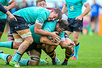 Tom Holmes of Nottingham Rugby scores a try during the Greene King IPA Championship match between Ampthill RUFC and Nottingham Rugby on Ampthill Rugby's Championship Debut at Dillingham Park, Woburn St, Ampthill, Bedford MK45 2HX, United Kingdom on 12 October 2019. Photo by David Horn.