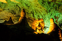 Stalagtite formations in Carlsbad Cavern in New Mexico, USA