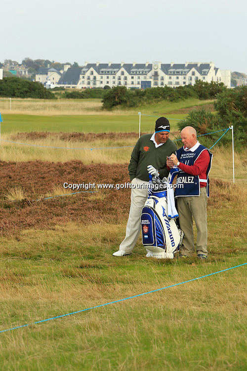 Ricardo Gonzalez (ARG) in action during the second round of the 2013 Alfred Dunhill Links Championship: Picture Stuart Adams www.golftourimages.com: 2013