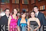 5408-5412.---------.School Glam.-----------.Pupil's from Castleisland Presentation enjoying their Deb's in the Abbeygate hotel Tralee last Friday night L-R Steven Wren,Katie Kerin's,Francine Moynihan,Josie Kerin's and Toma?s O Donovan.