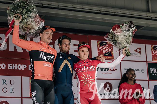 Podium: <br /> <br /> 1. Adam Blythe (GBR/Aqua Blue Sport)<br /> 2. Coen Vermeltfoort (NED/Roompot Nederlandse Loterij)<br /> 3. Hugo Hofstetter (FRA/Cofidis)<br /> <br /> 2nd Elfstedenronde 2018<br /> 1 day race: Brugge - Brugge 196.3km