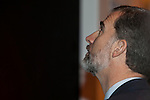 King Felipe VI of Spain attends tourism fair FITUR in Madrid, Spain. Month XX, 2015. (ALTERPHOTOS/Victor Blanco)