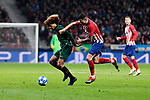 Atletico de Madrid's Victor Machin 'Vitolo' and AS Monaco's Han-Noah Massengo during UEFA Champions League match between Atletico de Madrid and AS Monaco at Wanda Metropolitano Stadium in Madrid, Spain. November 28, 2018. (ALTERPHOTOS/A. Perez Meca)