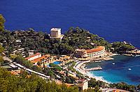 Monaco. Monte Carlo beach, La Vigne, hotels, clubs and sporting facilities..