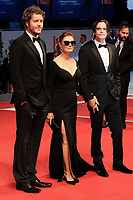 U.S. actress Susan Sarandon, center, from Kineo delegation, poses with her sons Miles Robbins, left, and Jack Henry Robbins on the red carpet for the movie 'Ella & John - The Leisure Seeker' at the 74th Venice Film Festival, Venice Lido, September 3, 2017. <br /> UPDATE IMAGES PRESS/Marilla Sicilia<br /> <br /> *** ONLY FRANCE AND GERMANY SALES ***