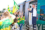 Kieran Donaghy gets a huge send off from Kerry supporters at Killarney station on Saturday   Copyright Kerry's Eye 2008