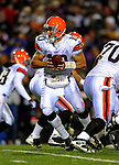17 November 2008:  Cleveland Browns' quarterback Brady Quinn looks to make a hand off in the second quarter against the Buffalo Bills at Ralph Wilson Stadium in Orchard Park, NY. The Browns defeated the Bills 29-27 in the Monday Night AFC matchup. *** Editorial Sales Only ****..Mandatory Photo Credit: Ed Wolfstein Photo