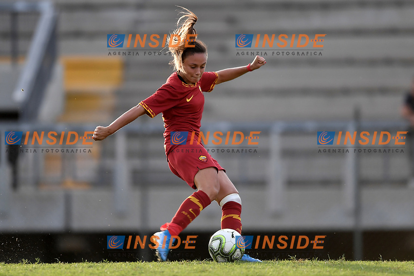 Annamaria Serturini of AS Roma  scores a penalty <br /> Roma 8/9/2019 Stadio Tre Fontane <br /> Luisa Petrucci Trophy 2019<br /> AS Roma - Paris Saint Germain<br /> Photo Andrea Staccioli / Insidefoto