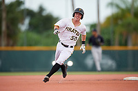 GCL Pirates third baseman Patrick Dorrian (50) runs the bases during the second game of a doubleheader against the GCL Yankees East on July 31, 2018 at Pirate City Complex in Bradenton, Florida.  GCL Pirates defeated GCL Yankees East 12-4.  (Mike Janes/Four Seam Images)