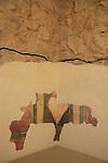 Israel, Judean desert, frescoes in Masada