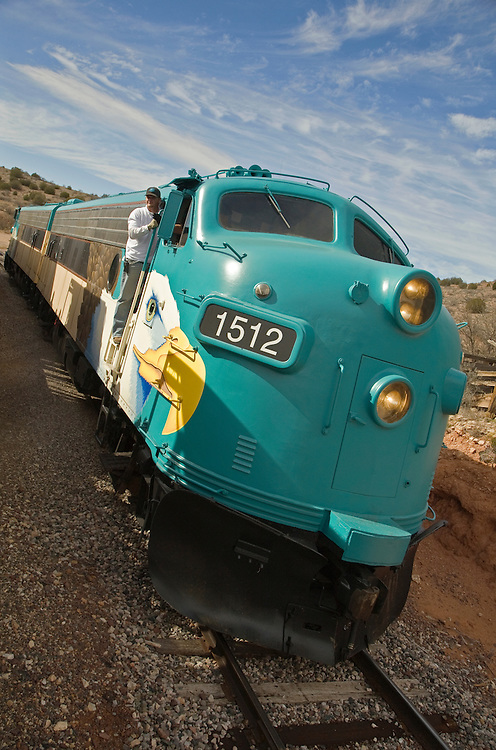 Engine 1512 of the Verde Canyon Railroad in Clarkdale, Arizona