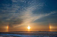 Sundogs on the Canadian prairie<br /> Winnipeg<br /> Manitoba<br /> Canada