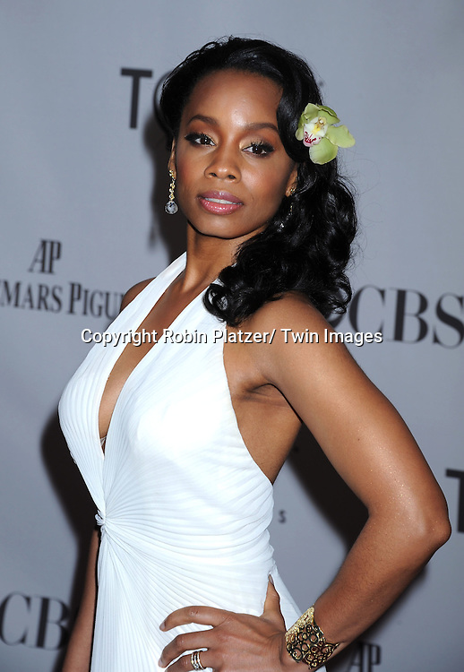 Anika Noni Rose attending the 65th Annual Tony Awards at the Beacon Theatre in New York City on June 12, 2011.