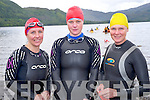 Pictured at the Dundag Master Swimmers 6k swim in Dundag, Muckross on Sunday were Mary O'Connell, Cathy Fisher and Denise Casey.