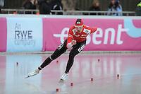 SCHAATSEN: BOEDAPEST: Essent ISU European Championships, 07-01-2012, 5000m Men, Bram Smallenbroek AUT, ©foto Martin de Jong
