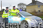 Garda Paddy Keane and Sergeant Gearóid Keating of the Garda Traffic Corps, launch the National Road Policing Operation Plan which begins March 1st.