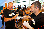 23.08.2011, Stanglwirt, Going, AUT, Vitali Klitschko, Training, im Bild Trainer Fritz Sdunek und Vitali Klitschko und Medienvertreter // during a trainingssession at Hotel Stanglwirt in Going, Austria on 23/8/2011. EXPA Pictures © 2010, PhotoCredit: EXPA/ J. Groder