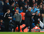 Jose Mourinho manager of Manchester United shouts instructions during the premier league match at the Etihad Stadium, Manchester. Picture date 7th April 2018. Picture credit should read: Simon Bellis/Sportimage