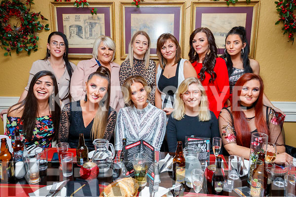 Caitriona Dowling, Tralee, who celebrated her 28th Birthday, in the Brogue Inn with friends on Saturday night last front  l-r: Nabila Abdulsalam, Jenny Dee, Caitriona Dowling, Rebecca Horrigan and Stacey Boyle. Back l-r: Aisling Thompson, Lauren Quirke, Amy Horrigan Aoife Rall, Caroline Sheehan and Nicole Roche.