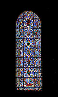 The Jesse window or Tree of Jesse, circa 1150, Chartres Cathedral, Eure et Loir, France Picture by Manuel Cohen