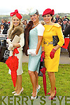Best Dressed Lady Winners, Annmarie Blennerhassett, Tralee, (Runner up), Maria Murphy (Winner) and Bernadette O'Sullivan from Milltown (Third) at Listowel Races Ladies Day 2011 on Friday.