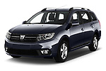 2017 Dacia Logan-MCV Laureate 5 Door Wagon Angular Front stock photos of front three quarter view