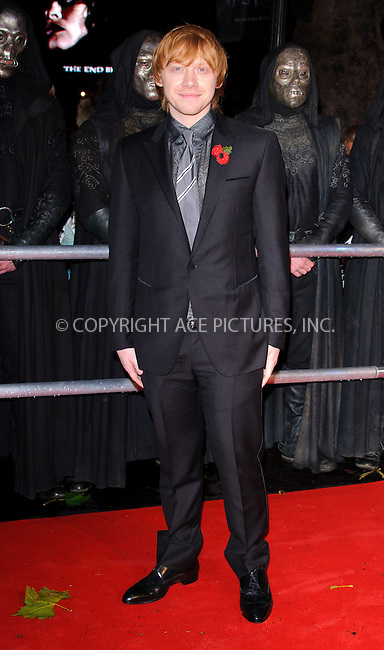 WWW.ACEPIXS.COM . . . . .  ..... . . . . US SALES ONLY . . . . .....November 11 2010, London....Actor Rupert Grint at the World premiere of 'Harry Potter and the Deathly Hallows Part 1' held at the Odeon Leicester Square on November 11 2010 in London....Please byline: FAMOUS-ACE PICTURES... . . . .  ....Ace Pictures, Inc:  ..Tel: (212) 243-8787..e-mail: info@acepixs.com..web: http://www.acepixs.com