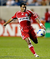 Chicago Fire midfielder Diego Gutierrez (8) prepares to kick the ball.  The Chicago Fire defeated the New England Revolution 2-1 in the quarterfinals of the U.S. Open Cup at Toyota Park in Bridgeview, IL on August 23, 2006...