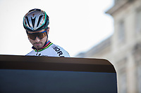 Peter Sagan (SVK/Bora Hansgrohe) siging in at the start<br /> <br /> 115th Paris-Roubaix 2017 (1.UWT)<br /> One day race: Compi&egrave;gne &gt; Roubaix (257km)