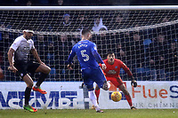 Max Ehmer scores Gillingham's first goal to equalise in stoppage time in the second half during Gillingham vs Peterborough United, Sky Bet EFL League 1 Football at the MEMS Priestfield Stadium on 10th February 2018