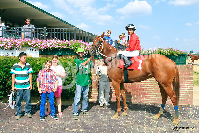 M'lady Penny winning at Delaware Park on 9/5/15
