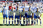 Real Sociedad's team photo with Imanol Agirretxe, Claudio Bravo, Carlos Martinez Diez, Markel Bergara, Xabi Prieto, Inigo Martinez, Antoine Griezman, Carlos Vela, Asier Illarramendi, Alberto de la Bella and Mikel Gonzalez during La Liga match.April 14,2013. (ALTERPHOTOS/Acero)