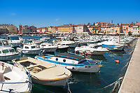 A view of the harbour at Rovinj, Istria County, Croatia