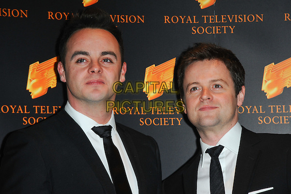 ANTHONY McPARTLIN & DECLAN DONNELLY - ANT & DEC.The Royal Television Society (RTS) Awards, Grosvenor House Hotel, Park Lane, London, England, UK,.March 15th 2011..portrait headshot black suit tie white shirt.CAP/CJ.©Chris Joseph/Capital Pictures.