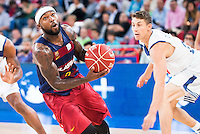 Real Madrid's player Jaycee Carroll and FC Barcelona Lassa's player Tyrese Rice during the match of the semifinals of Supercopa of La Liga Endesa Madrid. September 23, Spain. 2016. (ALTERPHOTOS/BorjaB.Hojas)