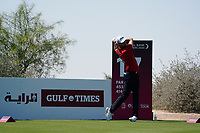 Niklas Lemke (SWE) on the 17th during Round 1 of the Commercial Bank Qatar Masters 2020 at the Education City Golf Club, Doha, Qatar . 05/03/2020<br /> Picture: Golffile | Thos Caffrey<br /> <br /> <br /> All photo usage must carry mandatory copyright credit (© Golffile | Thos Caffrey)