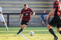 STANFORD, CA - August 19, 2014: Stanford forward Jordan Morris (13) during the Stanford vs CSU Bakersfield men's soccer match in Stanford, California. Final score, Stanford 1, CSU Bakersfield 0.