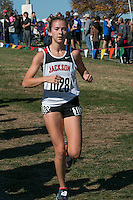 Jackson senior Carli Knott runs to an 8th-place finish in the Class 4 race at the 2015 MSHSAA State Cross Country Championships.