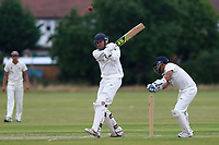 R Hurst hits four runs for Hainault during Hainault and Clayhall CC (batting) vs Oakfield Parkonians CC, Shepherd Neame Essex League Cricket at the Jack Carter Pavilion on 15th July 2017