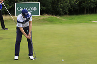Stuart Manley (WAL) putts on the 16th green during Sunday's Final Round of the Northern Ireland Open 2018 presented by Modest Golf held at Galgorm Castle Golf Club, Ballymena, Northern Ireland. 19th August 2018.<br /> Picture: Eoin Clarke | Golffile<br /> <br /> <br /> All photos usage must carry mandatory copyright credit (&copy; Golffile | Eoin Clarke)