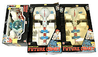 BNPS.co.uk (01202 558833)<br /> Pic: Vectis/BNPS<br /> <br /> PICTURED:  Mattel Captain Future, Future Comet space sets<br /> <br /> One man's epic collection of retro eighties' toys has been sold for £220,000 by his family following his death.<br /> <br /> Dr Cornel Flemming amassed more than 1,600 toy action figures and cars for franchises like Star Wars, He-Man and Transformers. <br /> <br /> The market for nostalgic toys is booming at the moment which is reflected in the prices some of the toys achieved.<br /> <br /> An unopened pack of three He-Man figures featuring He-Man, Teela and Ram Man made by Mettel sold for an incredible £12,000.