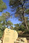 Israel, Mount Carmel, Carmeli trail in  Hof HaCarmel forest